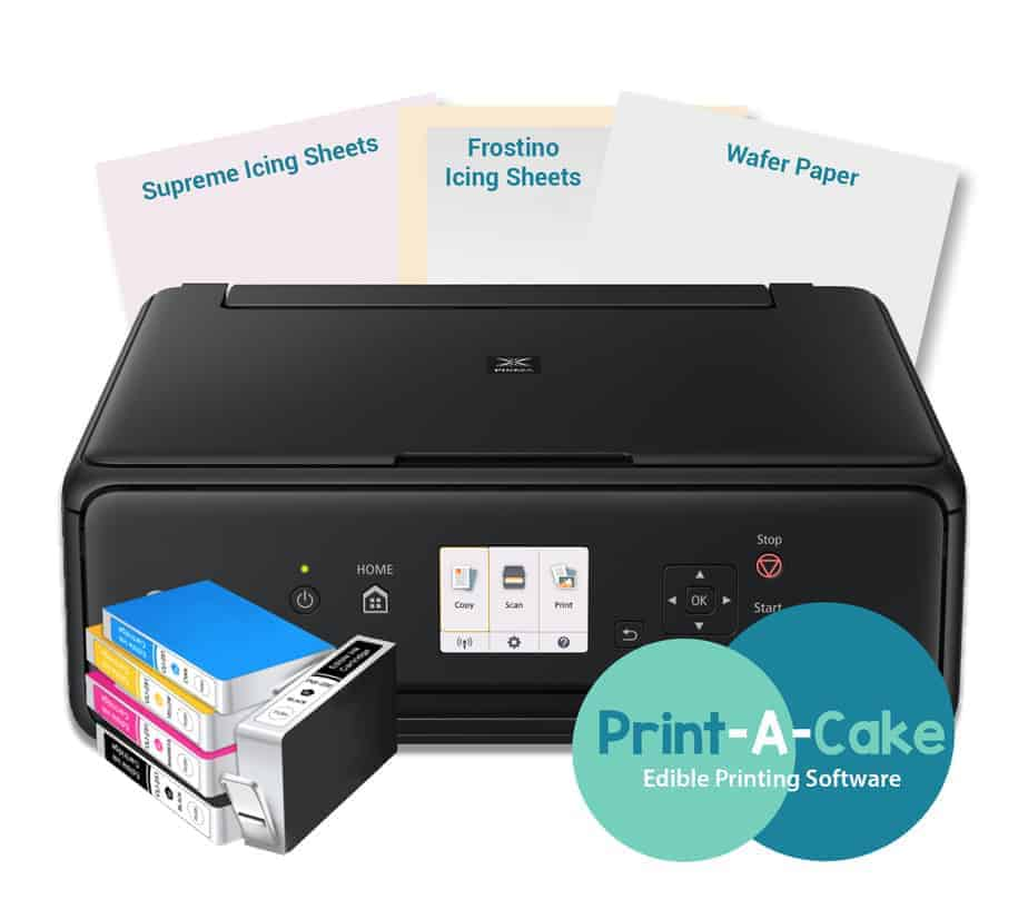 graphic regarding Edible Printable Paper for Cakes titled Canon Edible Printer Elite Contact Cupcake and Cookie Package