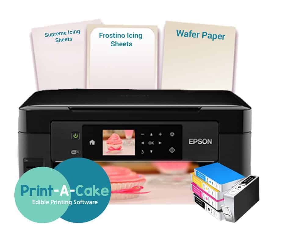 photo regarding Edible Printable Paper titled Epson Edible Printer Cupcake and Cookie Package